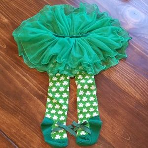 ☘Adorable Shamrock Skirt Tights